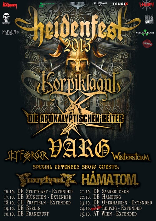 Official Flyer: Heidenfest Tour 2015
