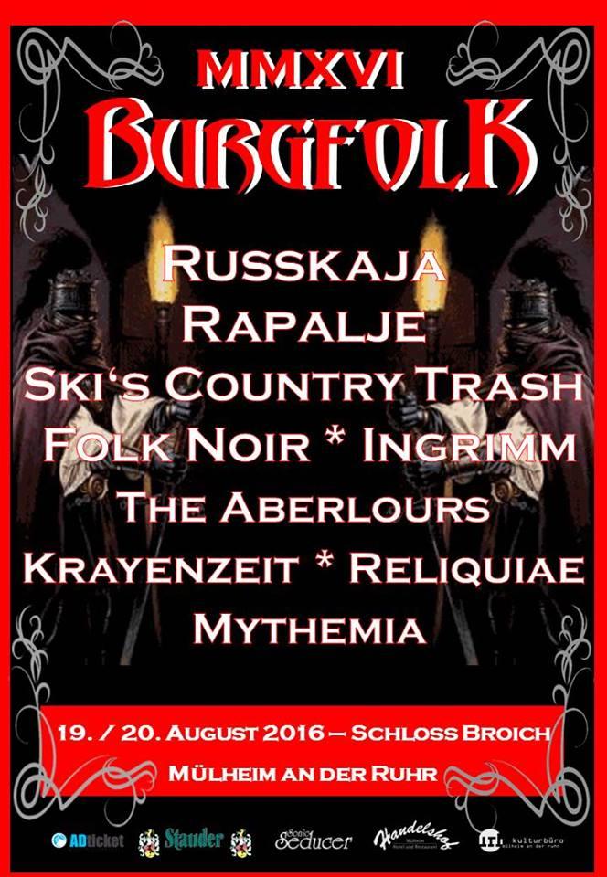 official Flyer: Burgfolk 2016 (Quelle/Autor: Michael Bohnes/http://www.muelheim-ruhr.de/cms/burgfolk1.html)