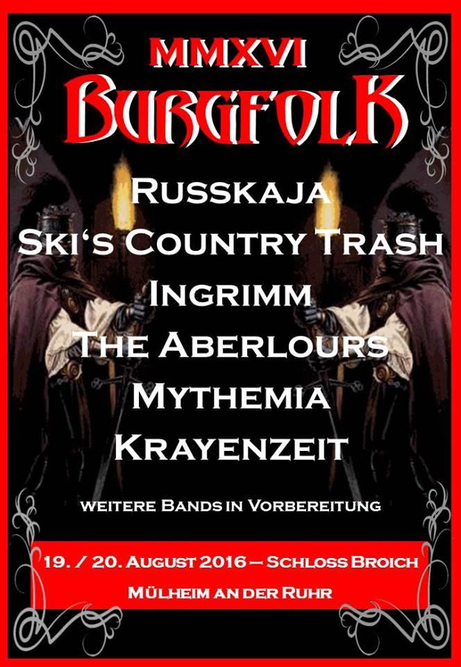 Flyer: Burgfolk 2016 (Quelle: Burgfolk Festival / Michael Bohnes)