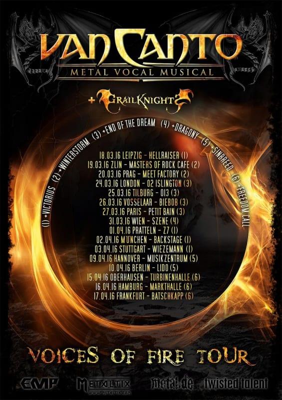 Official Flyer: Van Canto Tour 2016 (Quelle/Autor: http://vancanto.de/)