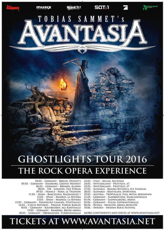 Avantasia: Tourflyer 2016