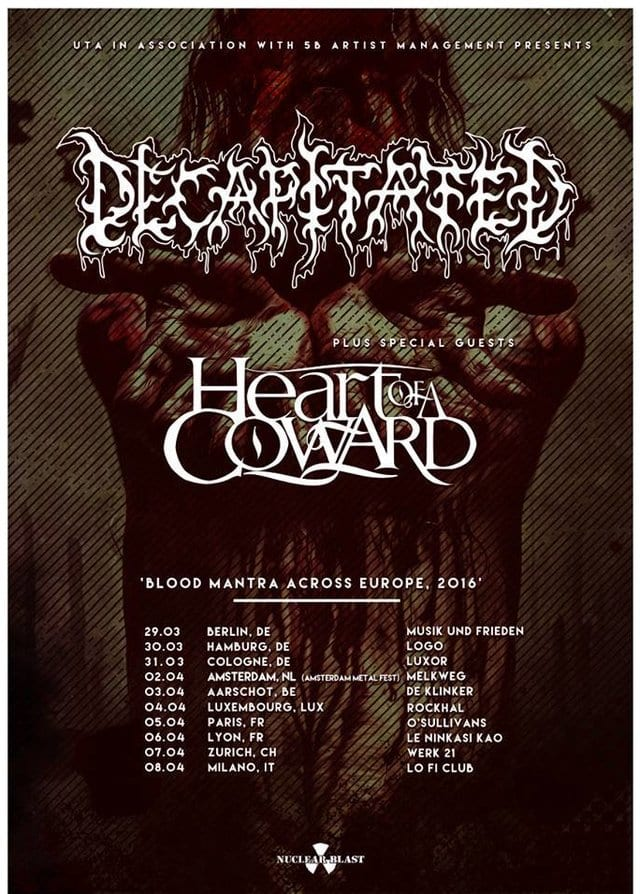 Tourflyer: Decapitated (Quelle: Nuclear Blast)