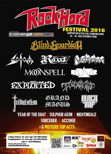 Flyer: Rock Hard Festival 2016