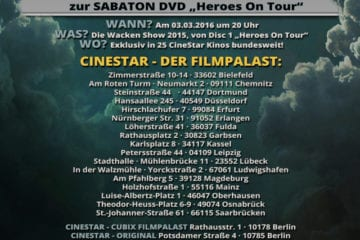 Flyer: Sabaton-Heroes on Tour