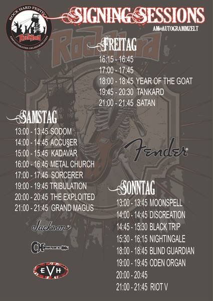 Official Flyer: Rock Hard Festival 2016 Signing Sessions