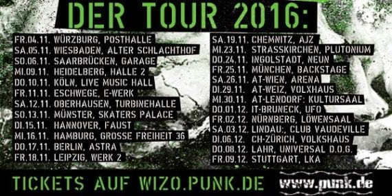 Official Tourflyer WIZO - Der Tour 2016