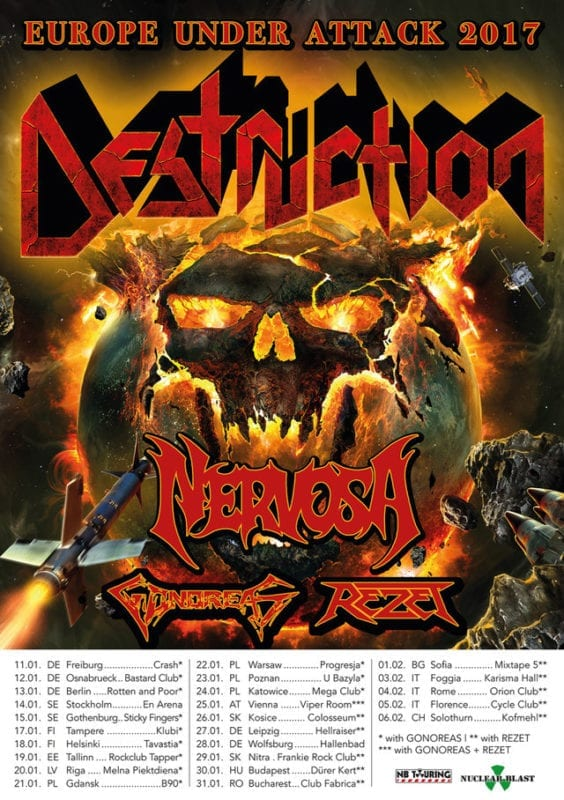 Official Flyer: Destruction - Europe Under Attack Tour