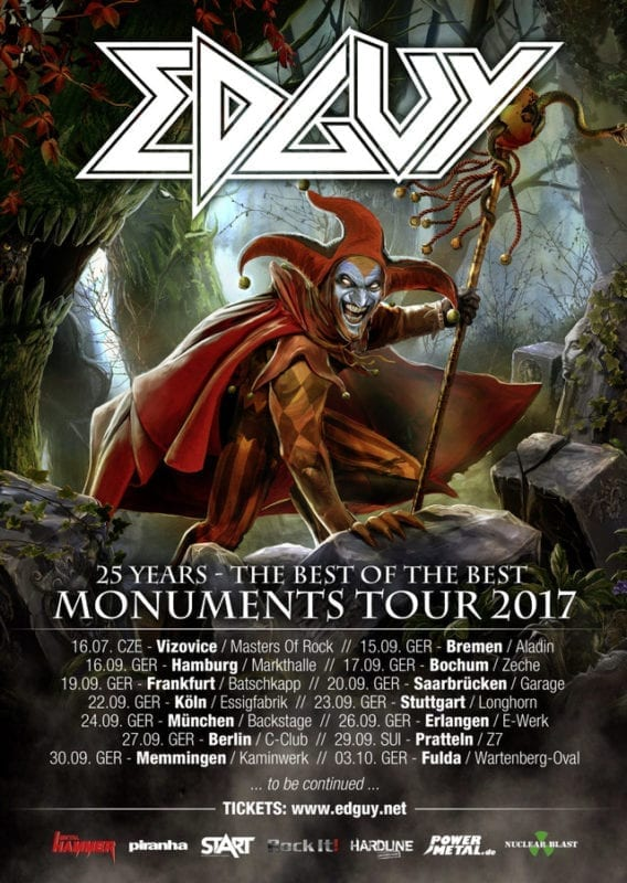 Official Flyer: Edguy - Monuments-Tour