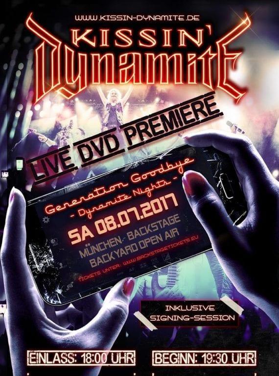 Kissin' Dynamite: Live-DVD Premiere in München