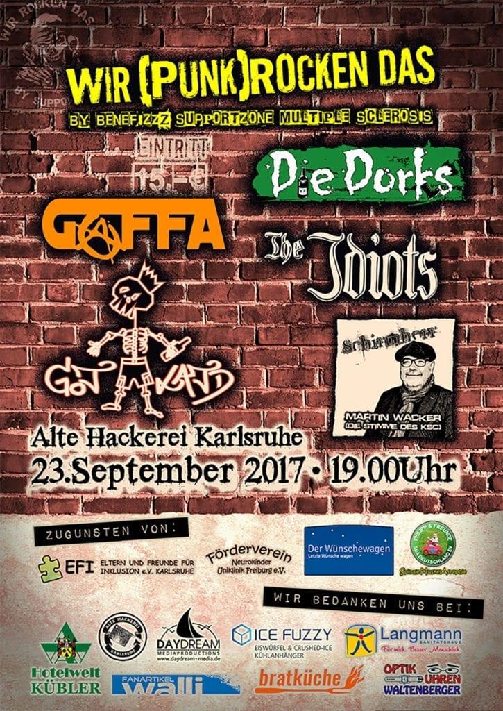 Wir (punk)rocken das! Festival am 23. September 2017 in Karlsruhe
