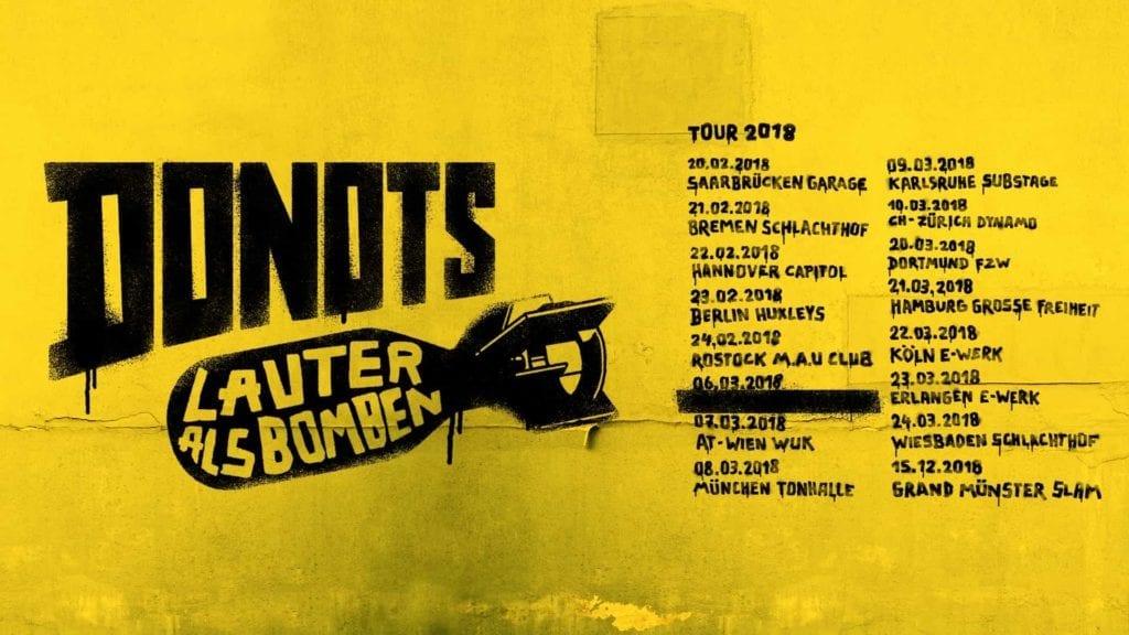 """Donots: """"Lauter als Bomben""""-Tour 2018"""