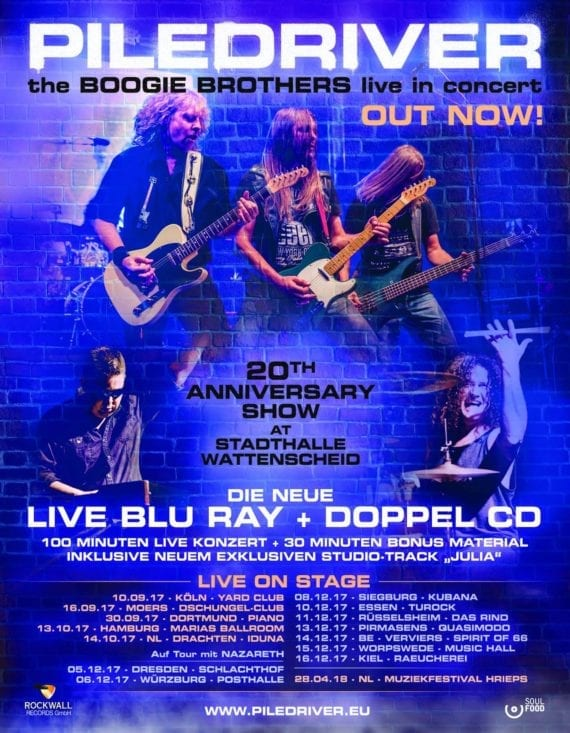 "Piledriver: ""The Boogie Brothers Live In Concert"" (Blu-ray + 2 CD) und Tour"