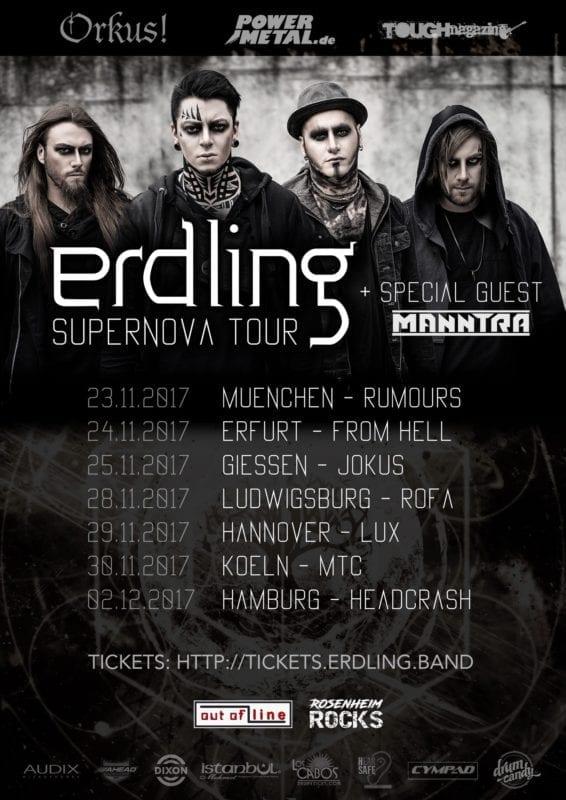 Erdling: Erste Headliner-Tour mit Manntra als Special Guest