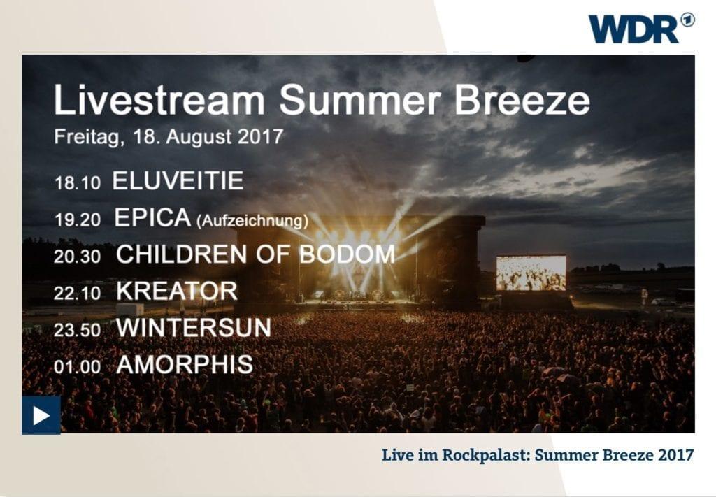 Summer Breeze 2017: Live Stream im Rockpalast