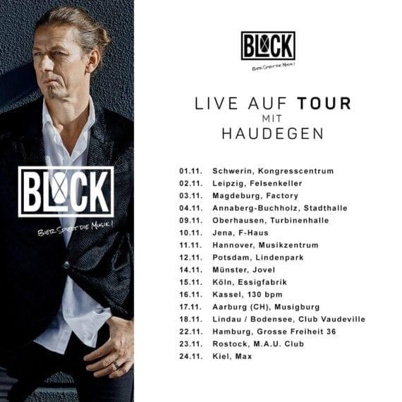 BLOCK auf Tour mit Haudegen