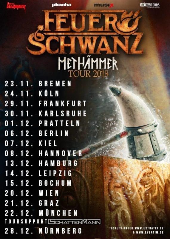 """Feuerschwanz: Neues Album """"Methämmer"""", Tour und Video zu """"Die Hörner hoch"""""""