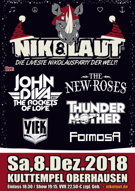 8. Nikolaut Rockfestival am 08.12.2018 im Kulttempel Oberhausen