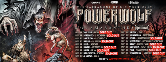 Powerwolf - 25.01.2019 - Mitsubishi Electric Halle, Düsseldorf