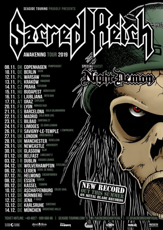 Official Flyer: Sacred Reich Tour 2019 - 2