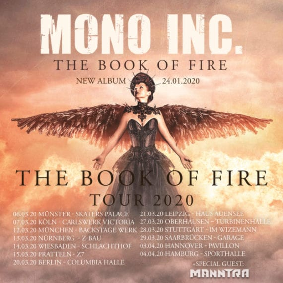 Tourflyer: Mono Inc. - The Book of Fire