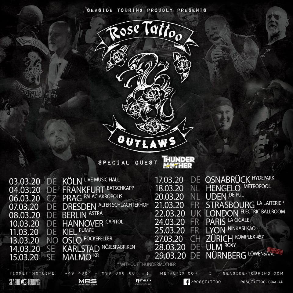 Rose Tattoo Live 2020