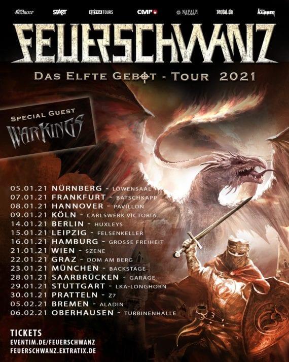 """Feuerschwanz: """"Das Elfte Gebot"""" - Tour und Glühmet Festival 2021"""